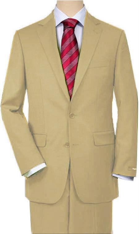 SKU#T66V Tan ~ Beige Quality Total Comfort Suit Separate Any Size Jacket & Any Size Pants
