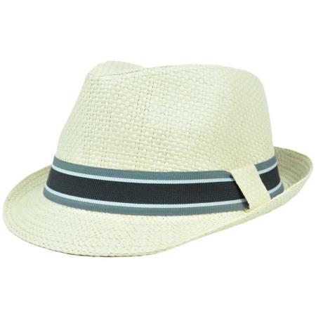 MensUSA.com Trilby Woven Paper Fedora Striped Band Large XLarge Gangster Hat(Exchange only policy) at Sears.com