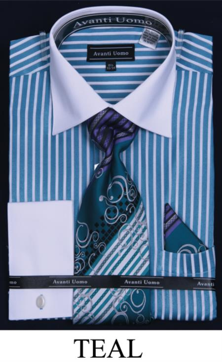 two tone stripe teal