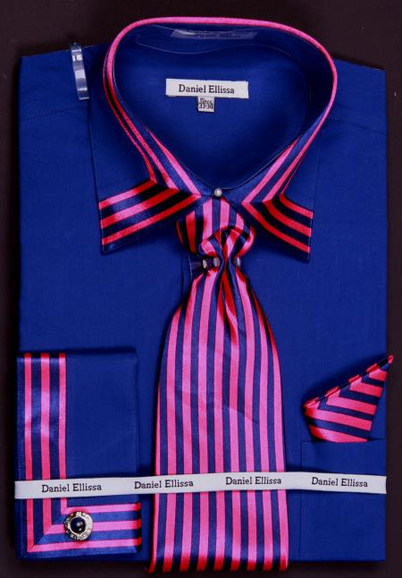 bold stripes navy blue/pink