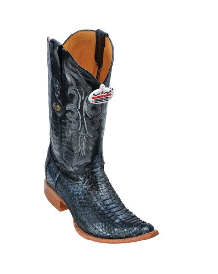 SKU#456 Metallic Silver Python Cowboy Boots $277