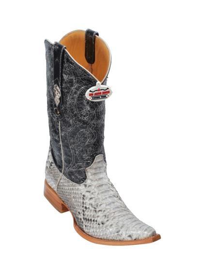 SKU#145 Natural Python ~ Snake Cowboy Boots
