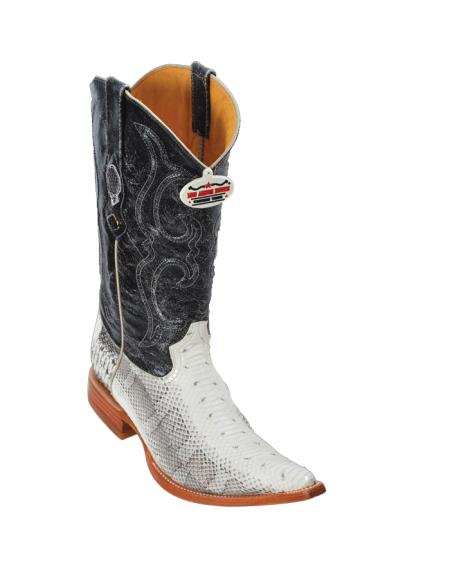 SKU#8XA Los Altos Natural Water Snake Cowboy Boots $317