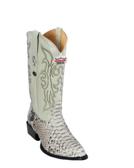 Los Altos Natural Python ~ Snake J-Toe Cowboy Boots