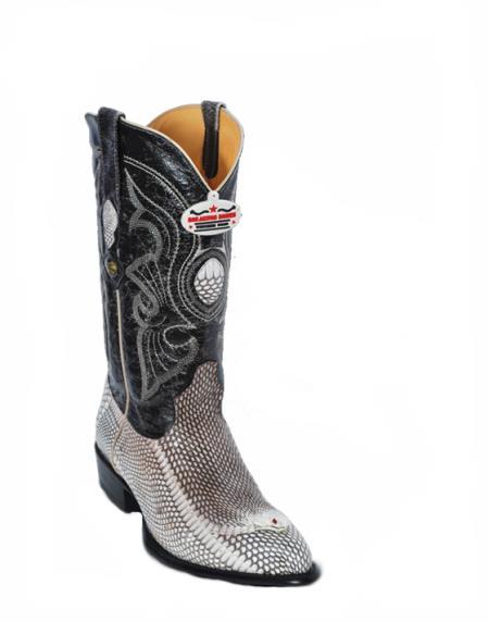 SKU#6BZ2 Los Altos Natural Cobra Cowboy Boots with Head