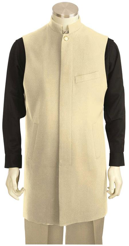 Sku 8pz1 Men S Clergy Robes Casual Leisure Suit Champagne