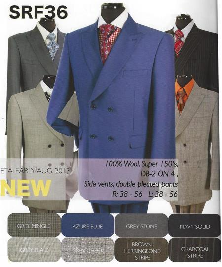 MensUSA Mens Double Breasted Suit Available in 8 Colors at Sears.com