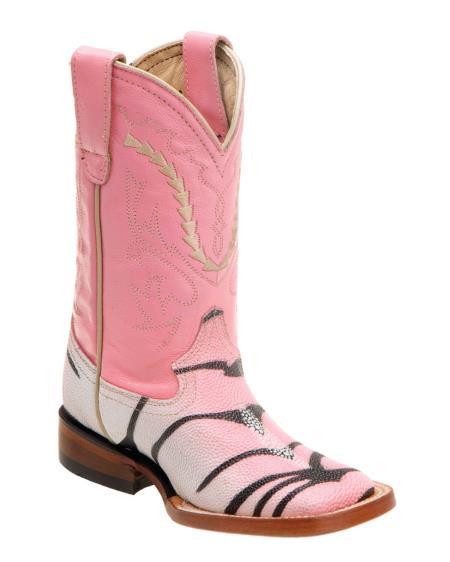 MensUSA Ferrini Kids Print Stingray S Toe Boot Tiger Pink at Sears.com