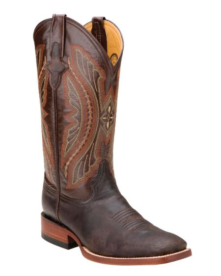 MensUSA Ferrini Mens Distressed Kangaroo S Toe Boot Chocolate at Sears.com