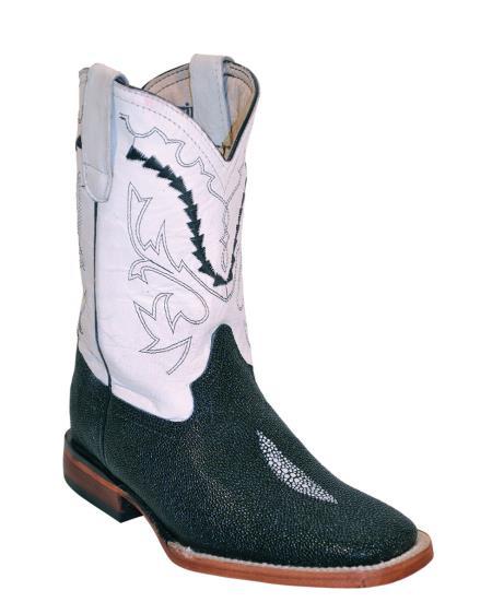 MensUSA.com Ferrini Kids Print Stingray S Toe Boot Black Pearl(Exchange only policy) at Sears.com