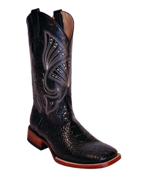 MensUSA Ferrini Mens Print Seaturtle S Toe Boot Black at Sears.com