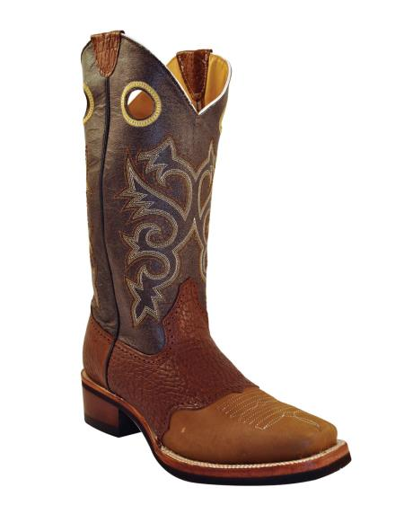 MensUSA Ferrini Mens Cowhide Saddle Vamp D Toe Boot Chocolate at Sears.com