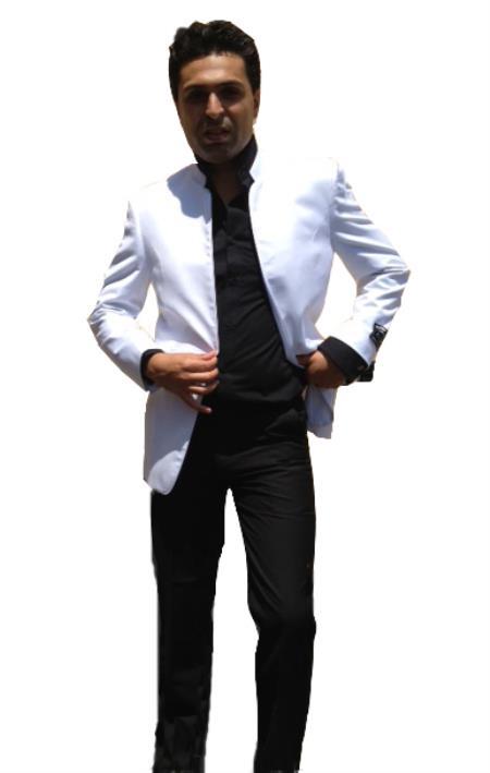 white nehru tuxedo