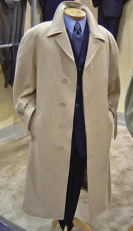 MensUSA.com Mens 45 Wool Blended Overcoat Coffee(Exchange only policy) at Sears.com