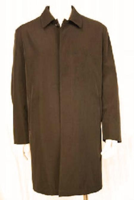 MensUSA.com 38 Water Repellent Rain Coat with Removeable Lining Brown(Exchange only policy) at Sears.com