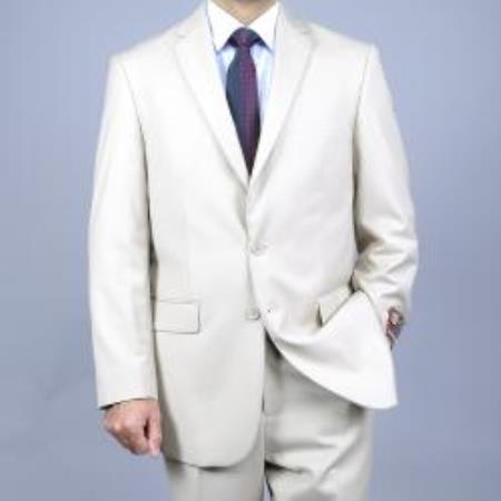 SKU#M069-08 Mens Bone 2-Button affordable suit online sale $139