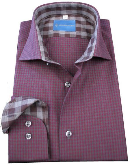 MensUSA.com Mens 100 Cotton L S Shirt Pink(Exchange only policy) at Sears.com