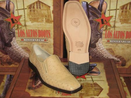 MensUSA.com Mens Genuine Loafers Tan Oryx Full Quill Ostrich Dress Shoe(Exchange only policy) at Sears.com