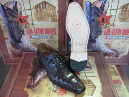 MensUSA.com Mens Genuine Authentic Brown Caiman Crocodile Belly Dress Shoe(Exchange only policy) at Sears.com