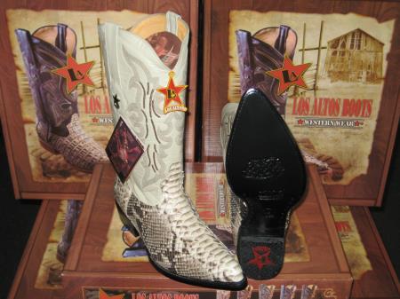 MensUSA Los Altos Natural Genuine Python Snake Western Cowboy Boot at Sears.com