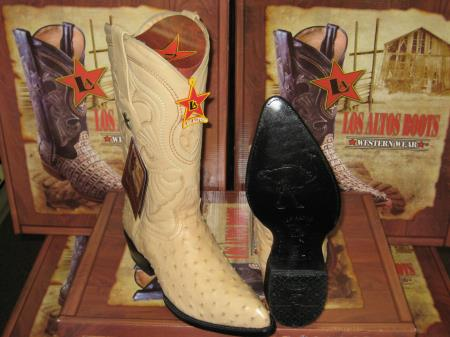 MensUSA.com Los Altos Oryx Genuine Full Quill Ostrich Western Cowboy Boot(Exchange only policy) at Sears.com