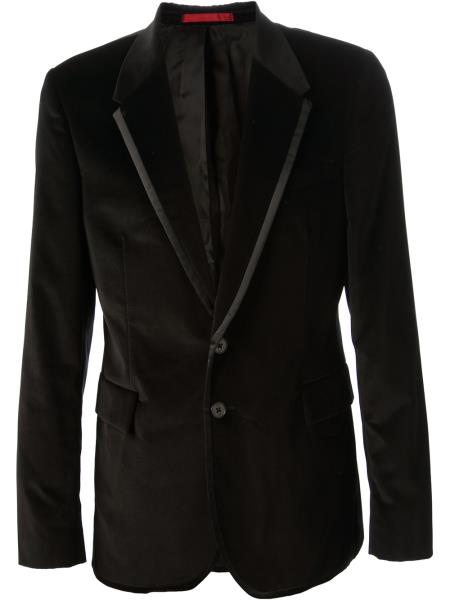 MensUSA Mens Black Cotton Velvet Blazer at Sears.com