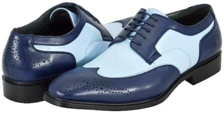 SKU#JR7845 Men's Blue Navy Dress Shoes $125