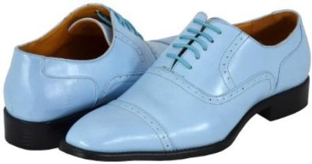 SKU#MT7402 Mens Sky Blue~baby~powder blue Dress Shoes $125