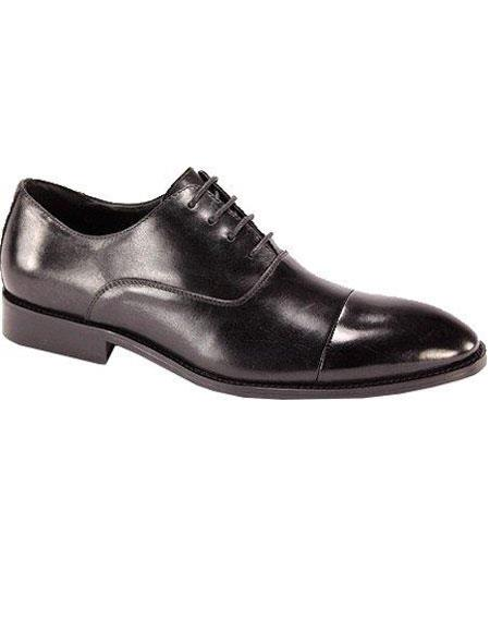 SKU#KF784 Mens Oxford Dress Shoe Black