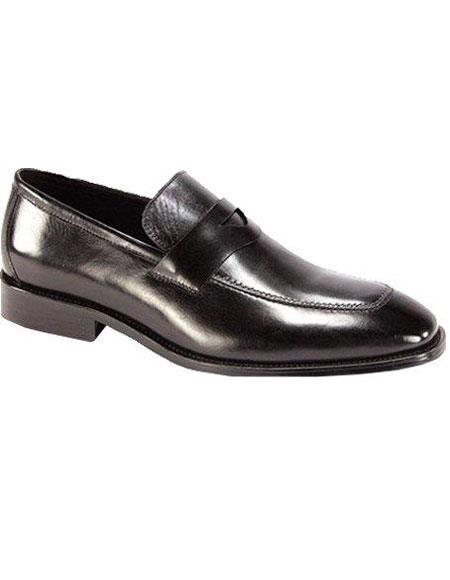 SKU#LV740 Mens Elegant Leather Dress Shoes Black $99
