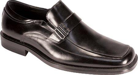 SKU#RN7399 Mens Moc Toe Buckle Dress Loafers Black $65