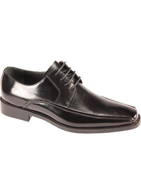 SKU#KA6381 Mens Lace Up Dress Oxfords Black