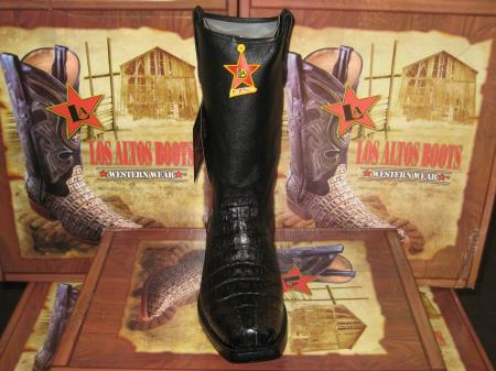 MensUSA.com Los Altos Black Caiman Tail Western Cowboy Biker Motorcycle Boot(Exchange only policy) at Sears.com