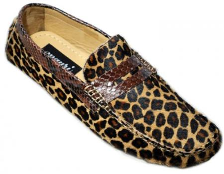 MensUSA Mauri Camel Genuine Python Leopard Maculated Loafers Shoes at Sears.com