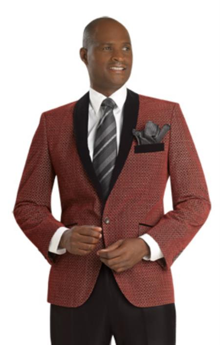 SKU#3LR Mens Exclusive 1 Button Suit Red $175
