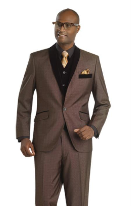 SKU#9NR Mens 1(Single) Button Fashion Suit $175