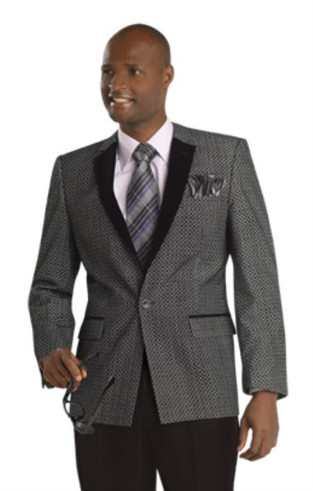 SKU#2GX Mens Exclusive ! (Single) Button Suit Grey $175