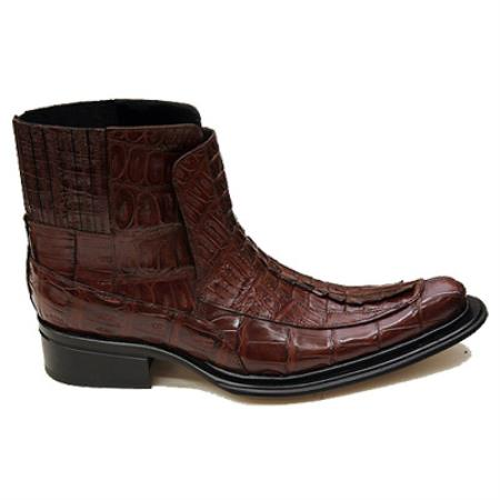 MensUSA Mauri Cognac All Over Genuine Hornback Crocodile Tail Boots at Sears.com