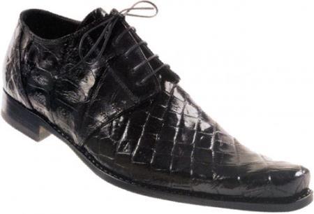 MensUSA Mauri Attitude Black All Over Genuine Alligator Baby Crocodile Shoes at Sears.com