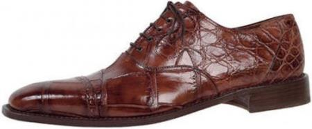 "SKU#ED645 Mauri ""Bespoke"" Body Alligator Hand Painted Sp.Rust Genuine All-Over Alligator Shoes $1069"