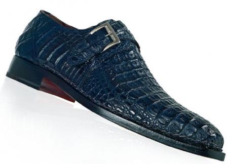 "SKU#HN46 Mauri ""Cool"" Wonder Blue Genuine All-Over Hornback Crocodile Shoes $1569"