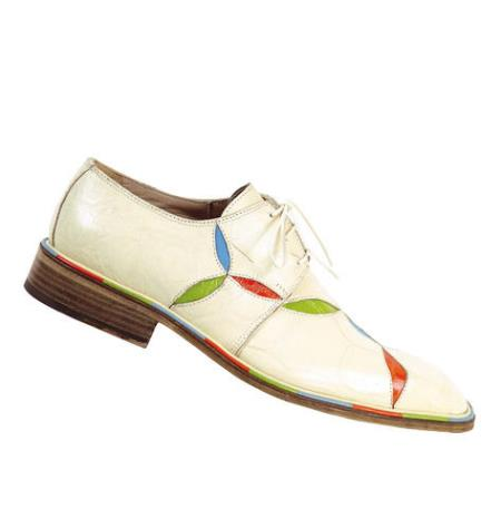 MensUSA Mauri Ease Cream w Bahama Blue Lime Orange Accents Genuine All Over Alligator Shoe at Sears.com