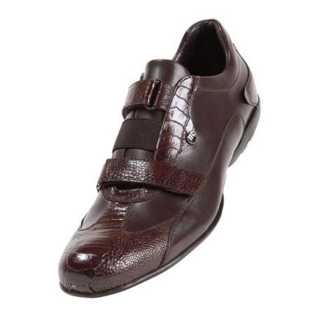 MensUSA Mauri Emerald City Rust Genuine Ostrich Calf Sneakers at Sears.com