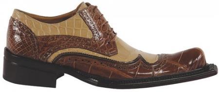 MensUSA Mauri Major Bone Camel Genuine Alligator Calf Shoes at Sears.com