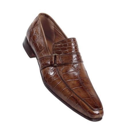 MensUSA Mauri NO1 Tabac Hand Painted Genuine Alligator Calf Shoes at Sears.com
