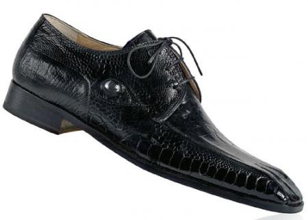 MensUSA Mauri Predator Black Genuine Alligator Ostrich Shoes With Eyes at Sears.com