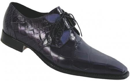 "SKU#CE4 Mauri ""Savoy"" Purple Aubergine/Blueberry Genuine All-Over Alligator Shoes $1169"
