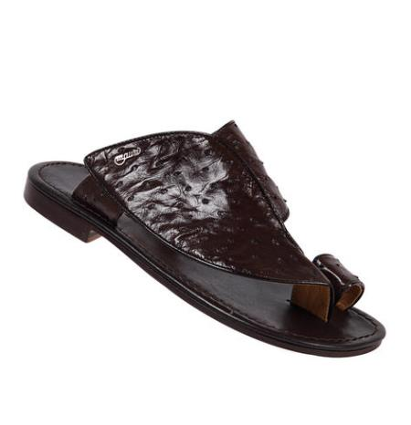 MensUSA Mauri Ostrich Dark Brown All Over Genuine Sandals at Sears.com