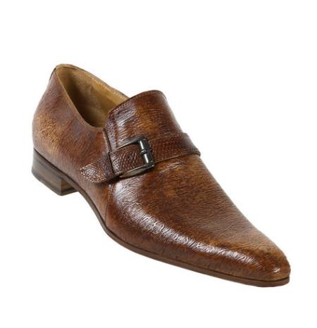 MensUSA Mauri Sable Lizard Nappa Embossed Dune Shoes With Monk Strap On Front at Sears.com