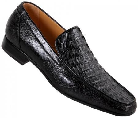 MensUSA Mauri Black Hornback Crocodile Pecary Loafer Shoes at Sears.com